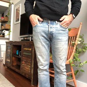 Levi's ice blue denim jeans 501s
